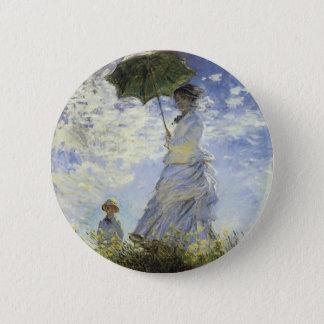 La promenade, Madame avec un parasol Badges