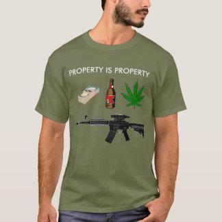 La propriété est propriété - les droits de t-shirt