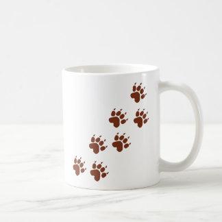 la protection brune trace l'icône mug