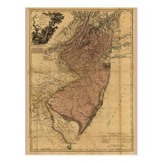 La province de la carte de New Jersey (1777)
