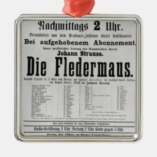 La publicité par affichage meurent Fledermaus par Ornement Carré Argenté