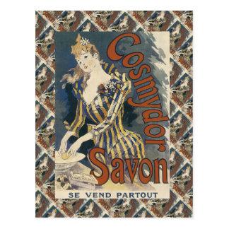 La publicité vintage, Cosmydor Savon Carte Postale