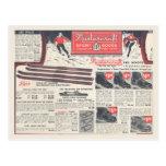 La publicité vintage d'article de sport d'hiver carte postale