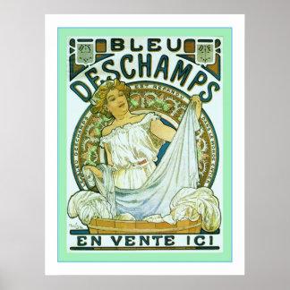 La publicité vintage de ~ de blanchisserie poster