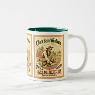 La publicité vintage de ~ de Chas Bros et de Woodw Mug Bicolore