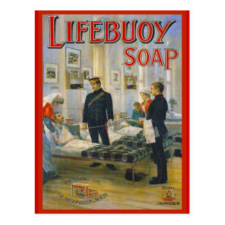 La publicité vintage de reproduction, savon de cartes postales