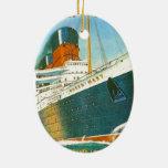 La publicité vintage, RMS Queen Mary Décoration Pour Sapin De Noël