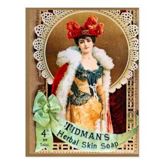 La publicité vintage, savon de fines herbes de la carte postale