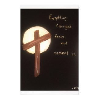 La puissance de la croix papier à lettre