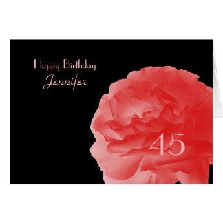 La quarante-cinquième carte de voeux heureuse