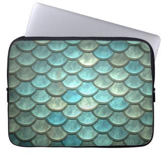La queue de sirène mesure la turquoise molle de protection pour ordinateur portable