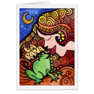 La Rana/carte de Loteria de grenouille Carte De Vœux