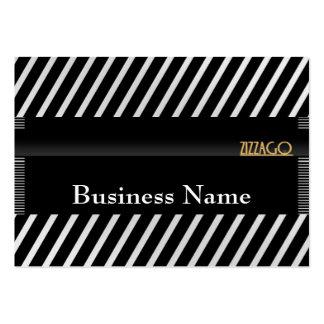 La rayure blanche de noir d'affaires de carte de p modèles de cartes de visite