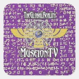 La réalité/autocollant globaux #5 de Museion TV Sticker Carré