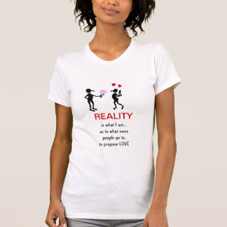 La réalité est ce qui t-shirts