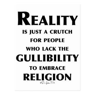 La réalité est une béquille carte postale