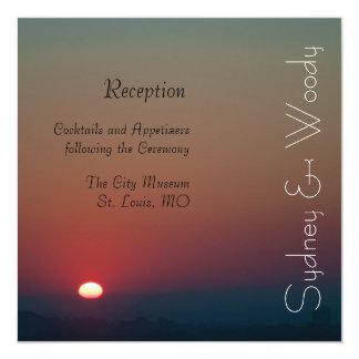 La réception de Soleil Levant Carton D'invitation 13,33 Cm