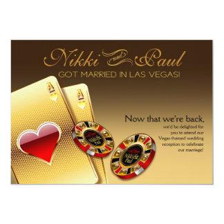La réception de Vegas VIP ME CONTACTENT 2 PUCES Carton D'invitation 12,7 Cm X 17,78 Cm