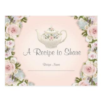 La recette nuptiale de thé de douche s'est levée cartes postales