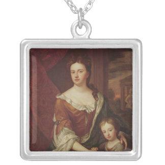 La Reine Anne et William, duc de Gloucester Pendentif Carré