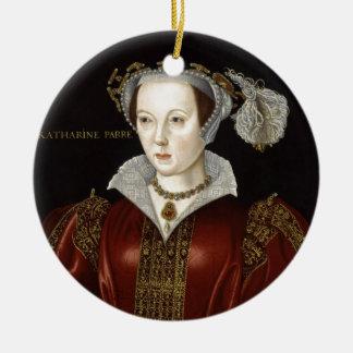 La Reine Catherine Parr Ornement Rond En Céramique