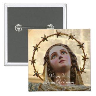 La Reine de Vierge Marie du ciel Badge