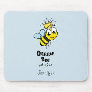La reine des abeilles mignonne gaffent l'abeille tapis de souris