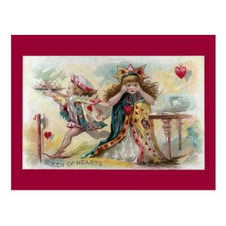 La reine des coeurs dépleure les tartes volées carte postale