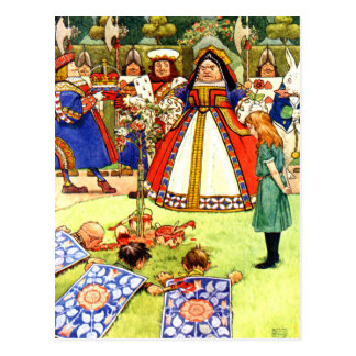 La reine des coeurs et Alice au pays des Cartes Postales