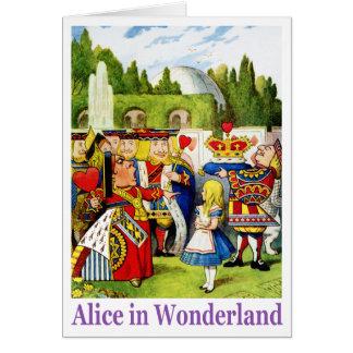 La reine des coeurs rencontre Alice au pays des Cartes