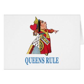 """La reine du coeur déclare, """"règle de la Reine ! """" Cartes"""