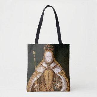 La Reine Elizabeth I dans des robes longues de Sac