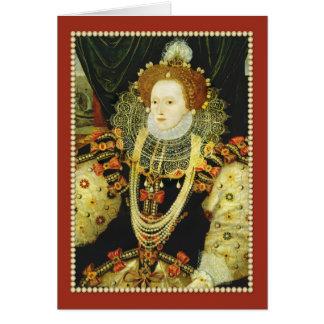 La Reine Elizabeth I de perles de port de Cartes
