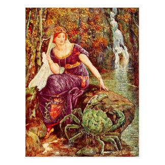 La reine et le crabe carte postale