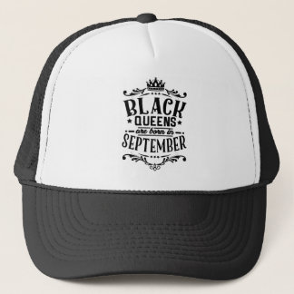 La Reine noire sont née en septembre Casquette