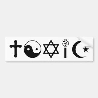 La religion est libre penseur toxique autocollant pour voiture