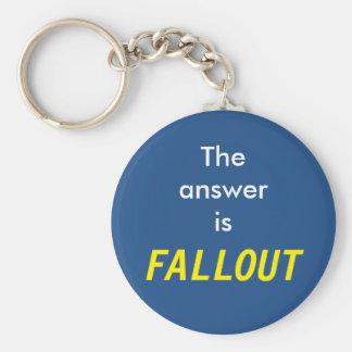 La réponse est des retombées radioactives porte-clé rond
