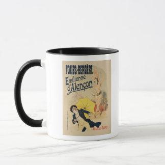 La reproduction d'une publicité par affichage mug