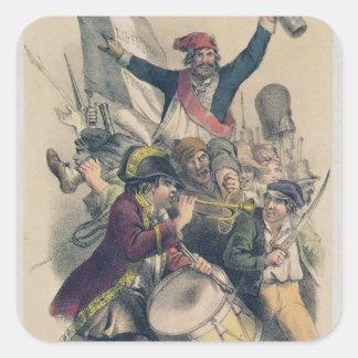 La Republique, 1848 de Vive Stickers Carrés