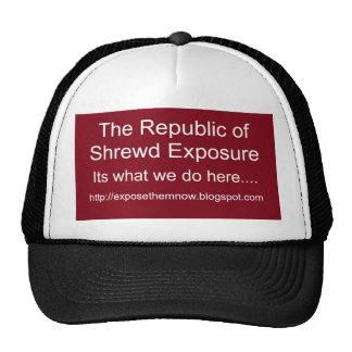 La République de l'exposition judicieuse, sa ce qu Casquettes