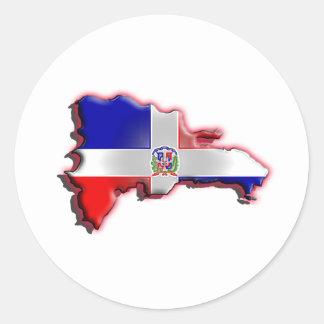La République Dominicaine Autocollant Rond