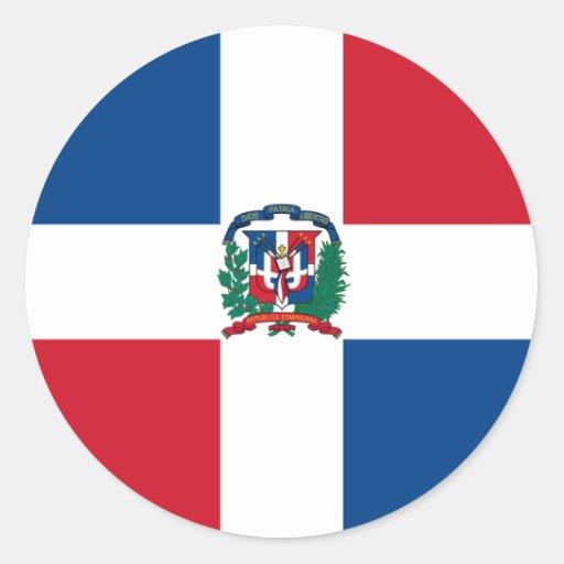 la République Dominicaine Adhésifs Ronds