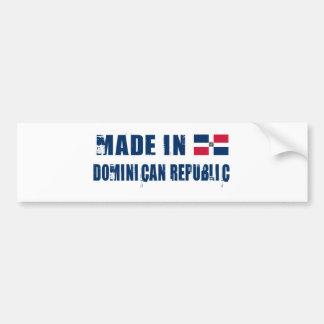 LA RÉPUBLIQUE DOMINICAINE AUTOCOLLANT DE VOITURE