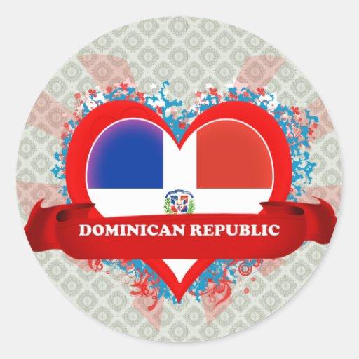 La République Dominicaine d'amour du cru I Adhésif Rond