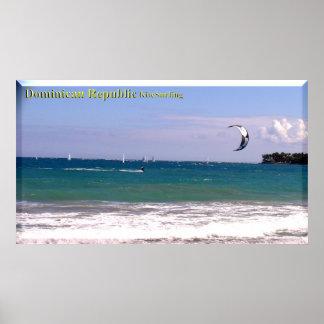 La République Dominicaine échoue le kitesurf Poster
