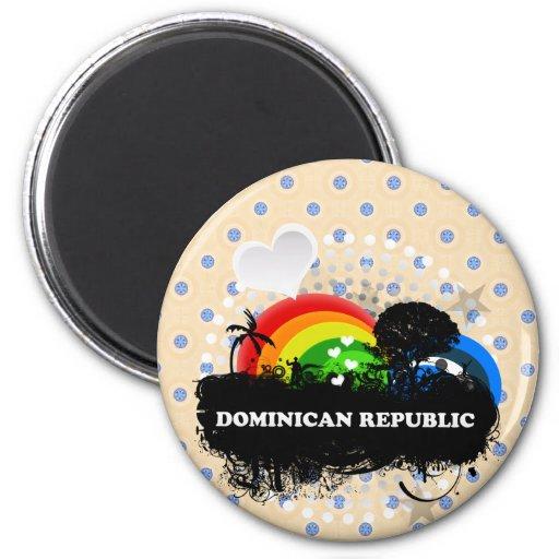 La République Dominicaine fruitée mignonne Magnets