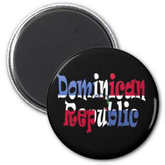 La République Dominicaine Magnet Rond 8 Cm