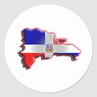 La République Dominicaine Sticker Rond