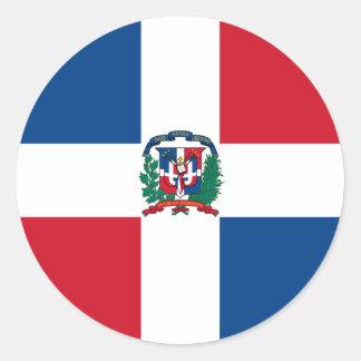 la République Dominicaine Sticker Rond