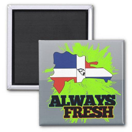 La République Dominicaine toujours fraîche Aimants Pour Réfrigérateur
